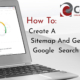Title Card reading: How To Create A Sitemap And Get It In Google Search Console