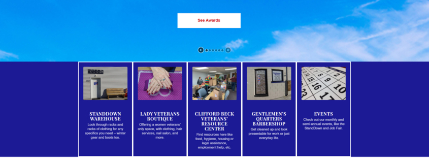 Custom WordPress website design for St Cloud StandDown home page in St. Cloud, MN