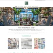 Custom WordPress website design for At Home & Co. home page in Edina, MN