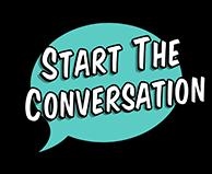 Start The Conversation Aqua Button