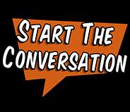 Start The Conversation Orange Button