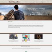 Custom WordPress website design for Faithful and True home page in Eden Prairie, MN