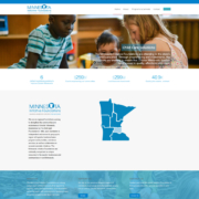 Custom WordPress website design for MN Initiative Foundation home page in Little Falls, MN