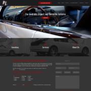 Custom Trustdyx website design for Precision Imports home page in Milaca, MN