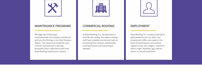 Custom Trustdyx website design for Royal Roofing home page in Twin Cities, MN