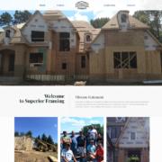 Custom Trustdyx website design for Superior Framing home page in Ham Lake, MN