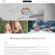 Custom Trustdyx website design for Absolute Title Company home page in Mora, MN