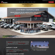 Custom Trustdyx website design for BD Exteriors home page in Sartell, MN