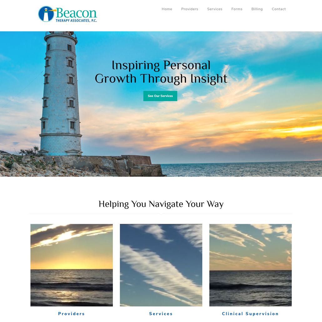 Custom Trustdyx website design for Beacon Therapy Associates, P.C. home page in Twin Cities, MN