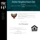 Custom Trustdyx website design for Indian Neighborhood Club home page in Minneapolis, MN