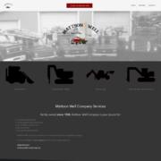 Custom Trustdyx website design for Mattson Well Co home page in Howard Lake, MN