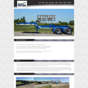 Custom WordPress website design for Muv All Trailers home page in St. Martin, MN