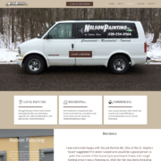 Custom Trustdyx website design for Nelson Painting home page in St. Stephen, MN