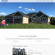 Custom Trustdyx website design for Patriot Builders II home page in Ham Lake, MN