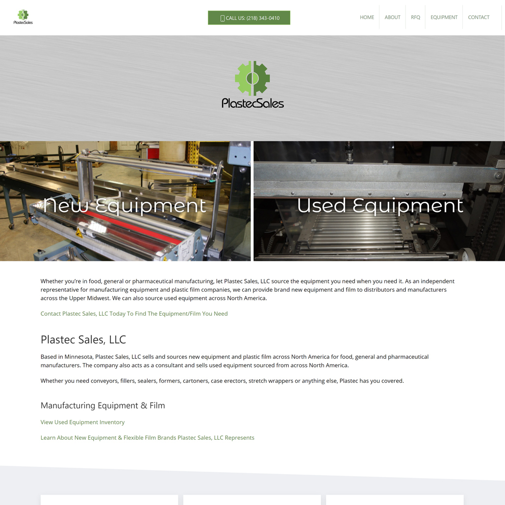 Custom Trustdyx website design for Plastec Sales, LLC home page in Bloomington, MN