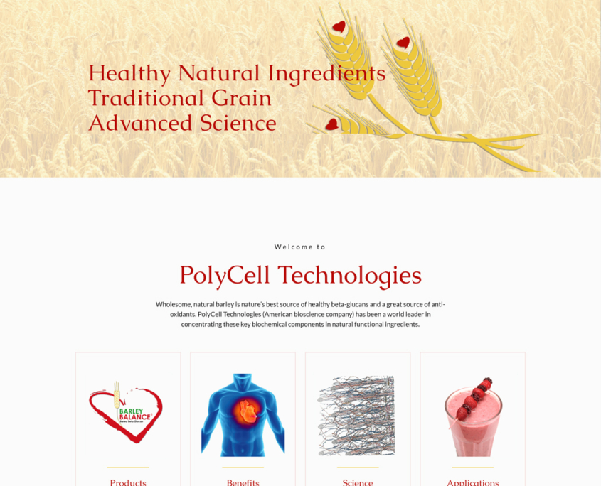 Custom Trustdyx website design for Poly-Cell Technologies home page in Bagley, MN