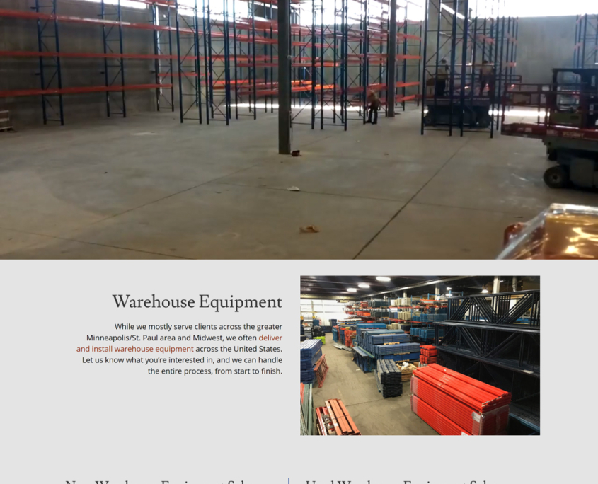 Custom Trustdyx website design for RW Lundquist home page in Minneapolis, MN