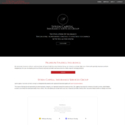 Custom Trustdyx website design for Syren Capital Insurance Services Group home page in New York, NY