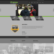 Custom WordPress website design for Tactical Advantage home page in Waite Park, MN